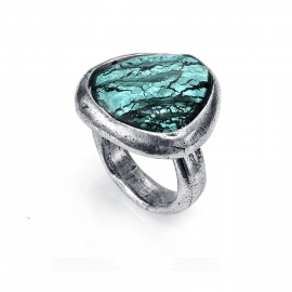 RELOJ anillo-metal-chap-plata-y-murano-sra-tribal-1024a01416