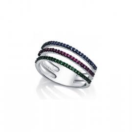 RELOJ anillo-plata-de-ley-y-cristal-tricolor-sra-jewels-7063a016-59