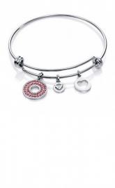 RELOJ pulsera-acero-cristales-rosas-con-charms-sra-f-90034p11010