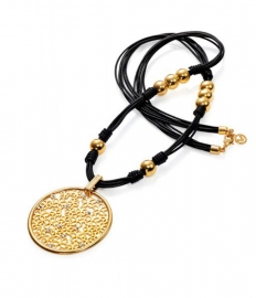 RELOJ collar-dorado-cristal-y-piel-sra-fashion-3126c09012