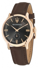 RELOJ MASERATI EPOCA 42MM 3H BROWN DIAL BROWN ST R8851118006