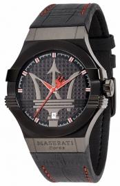 RELOJ MASERATI POTENZA 42MM 3H BLACK DIAL BLACK STR R8851108010