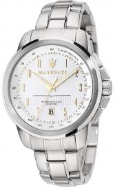 RELOJ MASERATI SUCCESSO 44MM 3H WHITE DIAL BR SS R8853121001