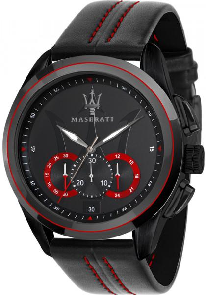 MASERATI TRAGUARDO 45MM CHR BLACK DIAL BLK ST R8871612023