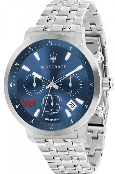 MASERATI GRANTURISMO 44MM CHR BLUE DIAL BR SS R8873134002