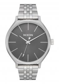 RELOJ NIXON CLIQUE ALL SILVER / GREY A12492762