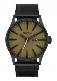 RELOJ NIXON SENTRY LEATHER BLACK / MATTE SAGE / BLAC A1052988