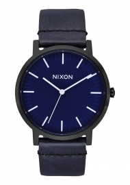 RELOJ NIXON PORTER LEATHER / ALL BLACK / DARK BLUE A10582668