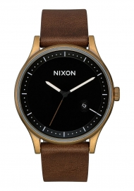 RELOJ NIXON STATION LEATHER / BRASS / BLACK / BROWN A11613053