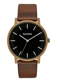 RELOJ NIXON PORTER LEATHER / BRASS / BLACK / BROWN A10583053