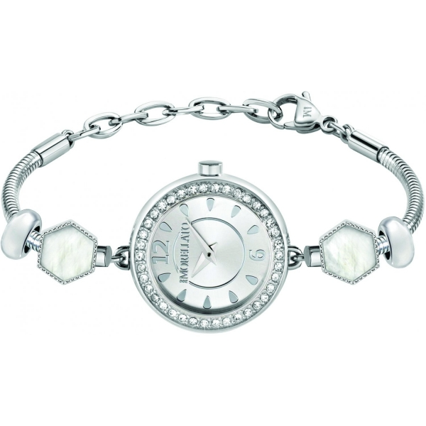 MORELLATO DROPS 2H 26MM SILVER DIAL BR 2 BEADS SS R0153122603
