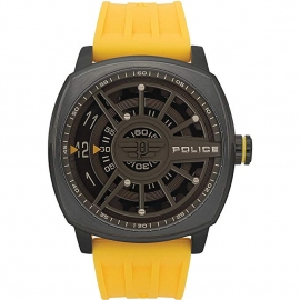 RELOJ POLICE SPEED HEAD 3H GREY DIAL YELLOW STRAP R1451290006
