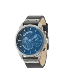 RELOJ POLICE LEICESTER BLUE DIAL BLACK LEATHER STRAP R1451285003
