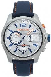 RELOJ POLICE DENVER CHR SILVER DIAL DARK BLUE STRAP R1471294001