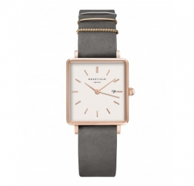RELOJ ROSEFIELD WATCH  THE BOXY WHITE ELEPHANT QWGR-Q12