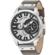 POLICE LEICESTER MULTI SILVER DIAL BROWN STRAP R1451285002