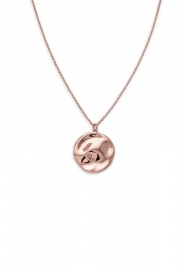 RELOJ ROSEFIELD JEWELRY IGGY TEXTURED COIN NECKLACE ROSEGOLD JTXCR-J079