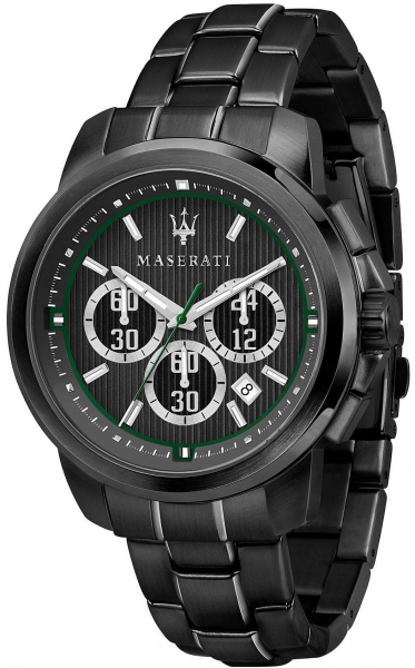 MASERATI ROYALE 45MM CHR GRAY DIAL BR BLACK R8873637004