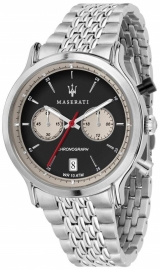RELOJ MASERATI EPOCA RACING 42MM CHR BLACK DIAL BR SS R8873638001