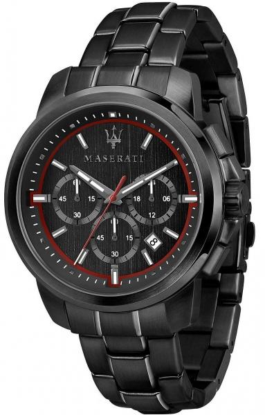 MASERATI SUCCESSO 44MM CHR BLACK DIAL BR BLACK R8873621014
