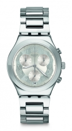 RELOJ SWATCH IRONY CHRONO SILVER RING YCS604G