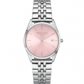 RELOJ ROSEFIELD THE ACE PINK SUNRAY SILVER ACPG-A05