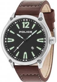 RELOJ POLICE DENTON 3H BLACK DIAL BROWN STRAP R1451287002
