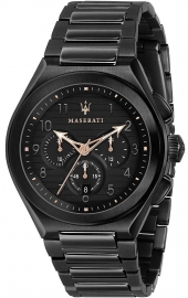 RELOJ MASERATI TRICONIC 43MM CHR BLACK DIAL BR BLACK R8873639003