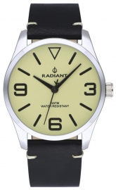RELOJ RADIANT DARTH 42MM BEIGE DIAL BLACK LEATHER STRA RA533202