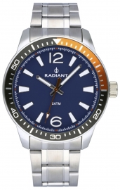 RELOJ RADIANT OVI 44MM BLUE DIAL SILVER SS BAND RA534202