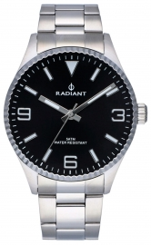 RELOJ RADIANT BAGLEY ALL SS 40MM BLACK DIAL SILVER BAN RA536202