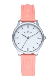RELOJ RADIANT LEYA 34MM SILVER DIAL PINK LEATHER STRAP RA520601