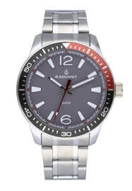 RELOJ RADIANT OVI 44MM GREY DIAL SILVER SS BAND RA534203