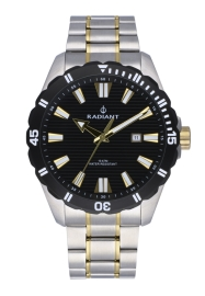 RELOJ RADIANT TAGRAD ALL SS 44MM BLACK / 2TONE IPG BAN RA480206
