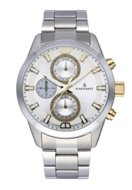RELOJ RADIANT GUARDIAN ALL SS 44MM SILVER DIAL & BAND RA479708
