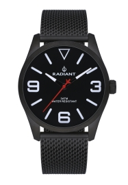 RELOJ RADIANT DARTH 42MM BLACK DIAL BLACK SS MESH RA533204