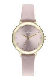 RELOJ RADIANT KATRINE 34MM PINK DIAL PINK LEATHER STRA RA467608
