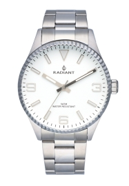 RELOJ RADIANT BAGLEY ALL SS 40MM WHITE DIAL SILVER BAN RA536203