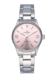 RELOJ RADIANT MULAN ALL SS 30MM PINK DIAL SILVER BAND RA537203