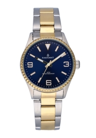 RELOJ RADIANT MULAN ALL SS 30MM BLUE DIAL 2TONE IPG BA RA537202