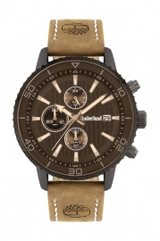 RELOJ TIMBERLAND WOODWORTH 44MM BLACK CHRONO TAN LEATHER 15952JYU-02