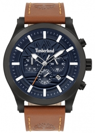 RELOJ TIMBERLAND HARDWICK 48MM BLUE MULTI TAN LEATHER 15661JSB-03