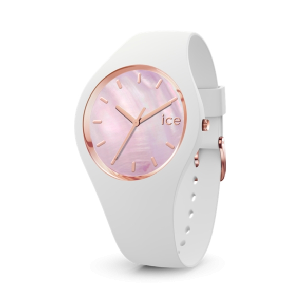 ICE WATCH PEARL - WHITE PINK - MEDIUM - 3H IC017126