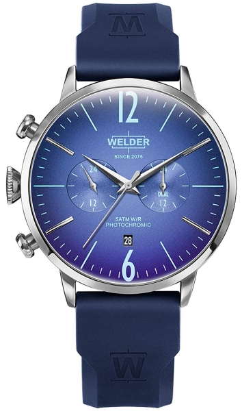 WELDER 45MM DUAL TIME BLUE SILICONE STRAP BLUE WWRC514