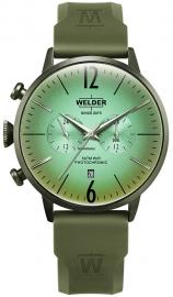 RELOJ WELDER 45MM DUAL TIME GREEN SILICONE STRAP GREE WWRC519