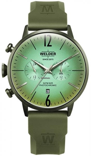 WELDER 45MM DUAL TIME GREEN SILICONE STRAP GREE WWRC519
