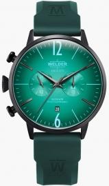 RELOJ WELDER 45MM DUAL TIME GREEN SILICONE STRAP GREE WWRC517