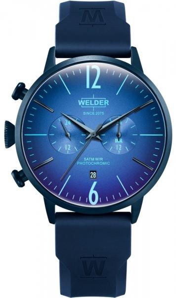 WELDER 45MM DUAL TIME BLUE SILICONE STRAP BLUE WWRC513