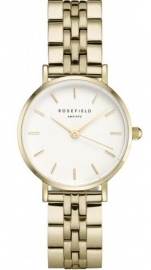RELOJ ROSEFIELD THE SMALL EDIT WHITE STEEL GOLD  26WSG-267