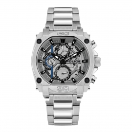 RELOJ POLICE NORWOOD MULTI SILVER DIAL SILVER SS BAND PL.15472JS-13M